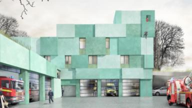 Une nouvelle caserne de pompiers à Ixelles
