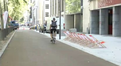 Piste cyclable Avenue des Arts - Filigranes