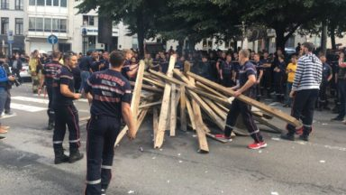 Les pompiers manifestent à nouveau ce vendredi à Bruxelles