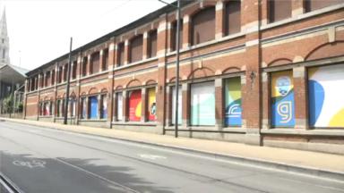 Schaerbeek : un dépôt de la Stib mis en couleur par des étudiants engagés