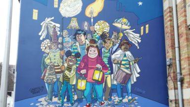 Une fresque du parcours BD de Bruxelles à l'effigie de Tamara inaugurée à Laeken