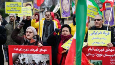 Des centaines de manifestants ont protesté à Bruxelles contre le régime iranien