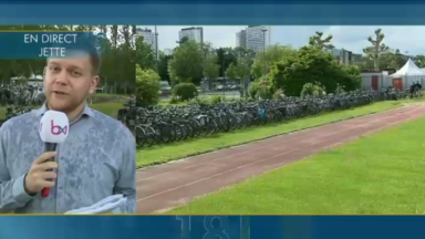 Les vélos ont la cote pour se rendre au concert du groupe Metallica à Laeken