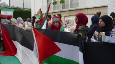 160 personnes ont manifesté hier devant l'ambassade d'Israël à Uccle
