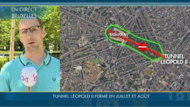 Tunnel Léopold II : 30 policiers mobilisés chaque jour suite à la fermeture