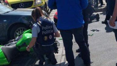 Ribaucourt : accident entre un automobiliste et une motarde, blessée