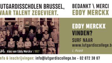 Tour de France : une photo d'Eddy Merckx dans son ancienne école affichée sur le parcours