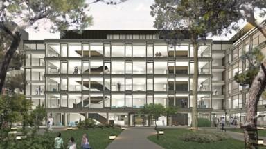 Uccle : un parc installé derrière la future administration communale