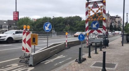 Chantier Pont Rue Gray Avenue de la Couronne - BX1