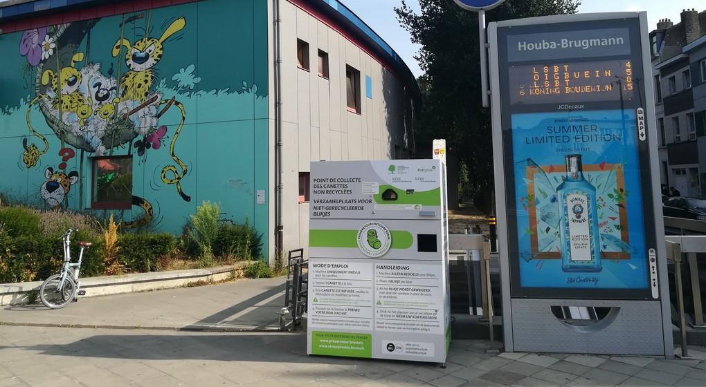 Machine collecte canettes - Bruxelles Environnement