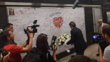 Le nouveau président du Parlement européen rend hommage aux victimes du terrorisme à Maelbeek