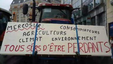 Des agriculteurs manifestent à Bruxelles contre l'accord avec le Mercosur