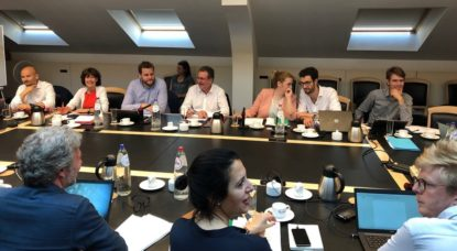 Rudi Vervoort - Table Négociations Gouvernement bruxellois - Twitter