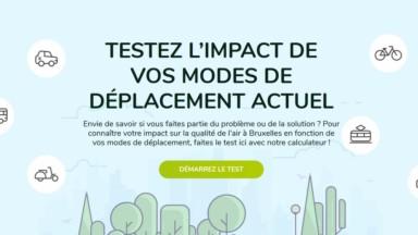 Bruxelles Mobilité teste l'impact de vos déplacements sur la qualité de l'air