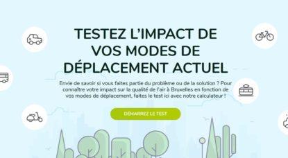 Test Bruxelles Mobilité Impact Qualité de l'air Bruxelles