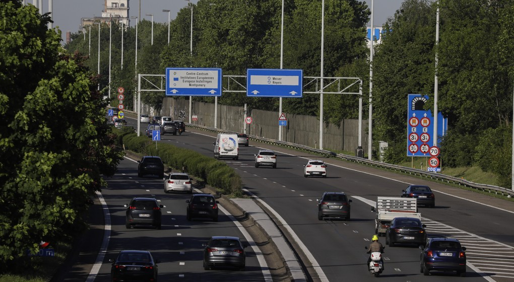 Trafic Voitures - Autoroute E40 Reyers - Illustration Belga Thierry Roge