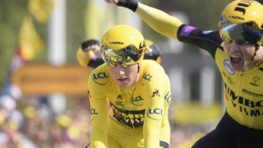 Tour de France : Jumbo-Visma domine le chrono par équipes, Teunissen garde le maillot jaune