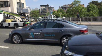Voiture autonome Lexus - Test Bruxelles