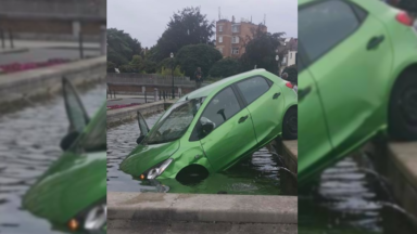 Un jeune conducteur se trompe de pédale et finit dans la fontaine Bockstael