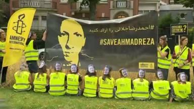 Une quarantaine de personnes demandent la libération du professeur de la VUB Ahmadreza Djalali