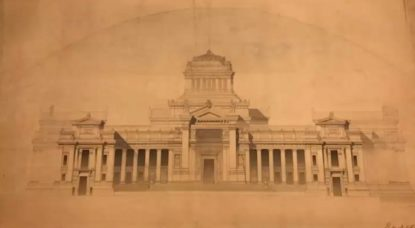 Anciens plans retrouvés du Palais de Justice - Francis Metzger Architecte