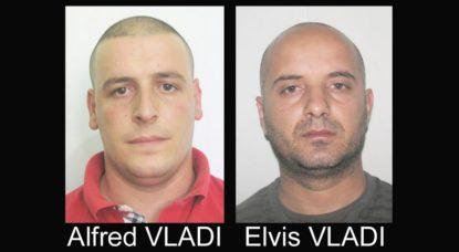 Avis de recherche police - Alfred Vladi et Elvis Vladi