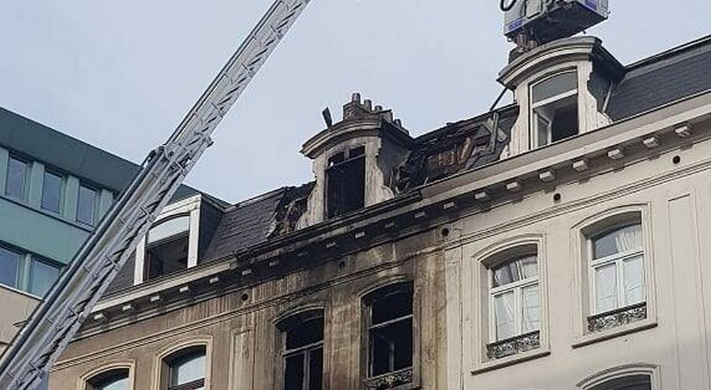 Incendie Boulevard Emile Jacqmain - Bruxelles