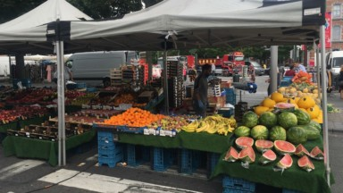 Incendie à Schaerbeek : les produits alimentaires du marché doivent être détruits
