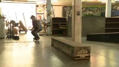 """Un """"skate-café"""" créé par des bénévoles sur le site de l'allée du Kaai"""