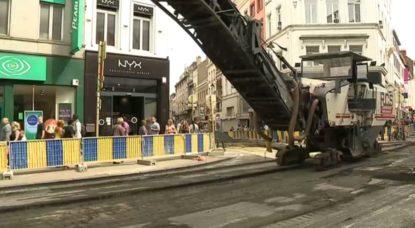 Travaux Chaussée d'Ixelles Porte de Namur - BX1