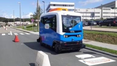 L'ULB et la VUB testent un shuttlebus autonome sur le campus de Jette