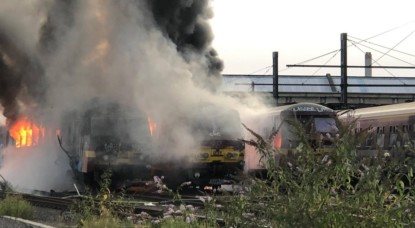 Incendie Trains Schaerbeek Formation