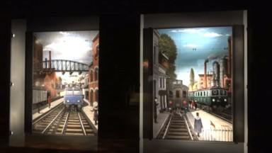Schaerbeek : quatre peintures de Paul Delvaux se dévoilent à Train World
