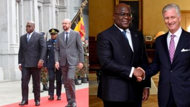 Félix Tshisekedi a été accueilli par Charles Michel et le roi Philippe