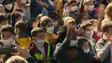 Une flashmob d'un millier d'enfants pour demander une meilleure qualité de l'air