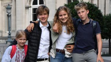 Les princes et princesses belges prennent aussi le chemin de l'école