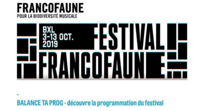 Le Festival FrancoFaune s'installe dans 20 lieux culturels à Bruxelles du 3 au 13 octobre