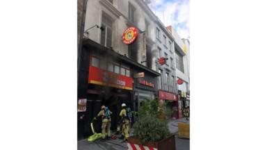 Un incendie a eu lieu au Hector Chicken de la Chaussée d'Ixelles