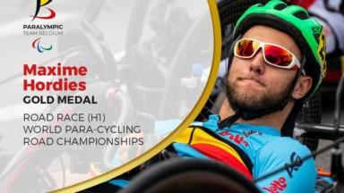 Para-cyclisme : le Bruxellois Maxime Hordies est champion du monde en course en ligne