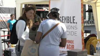 Des actions à Bruxelles pour une campagne contre le suicide