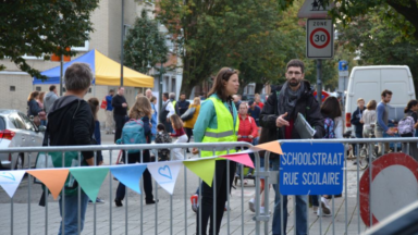 """Jette possède désormais """"la plus grande rue scolaire de Bruxelles"""""""