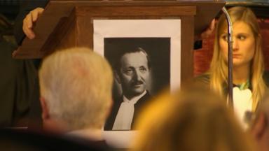 Une cérémonie en hommage au Bâtonnier Braffort, assassiné lors de la Seconde Guerre mondiale