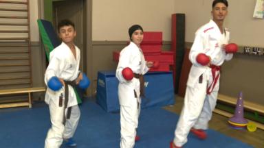 Les Bruxellois Walid Deghali, Ikram et Yassine Ghazouani se préparent aux Mondiaux de karaté