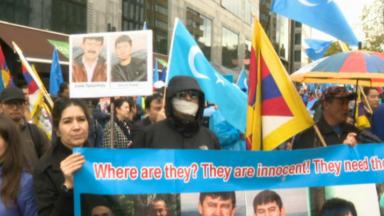 Une marche des Tibétains et des Ouïghours s'est tenue à Bruxelles