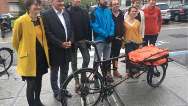 Woluwe-Saint-Pierre : des coursiers à vélo pour l'administration de la commune