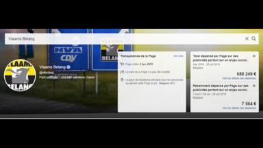 Les dossiers de la rédaction : près d'un million d'euros d'investissement publicitaire dans les réseaux sociaux pour le Belang