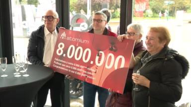 L'Atomium a accueilli son 8 millionième visiteur