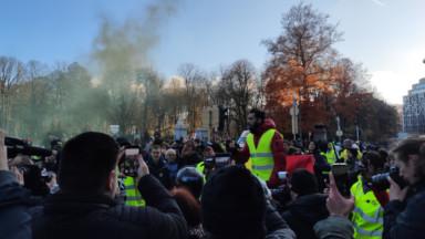 Environ 250 gilets jaunes défilent dans les rues de Bruxelles