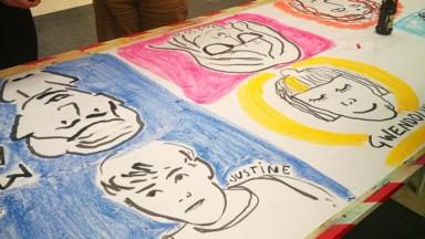 Record du monde de la plus grande galerie de portraits dessinés à la main