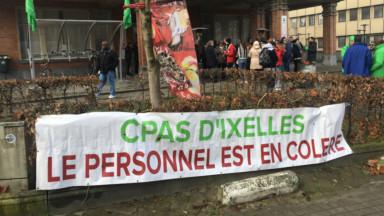 La grogne des travailleurs a gagné l'ensemble du CPAS d'Ixelles